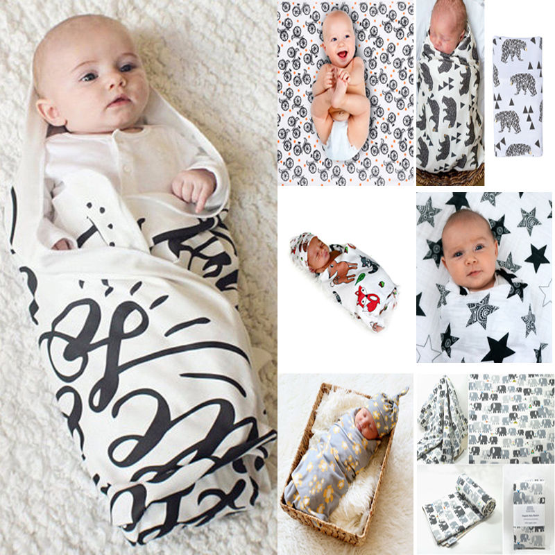 Emmababy Toddler Kids Newborn Baby Blanket Swaddle Sleeping Bag Stroller Wrap Cotton Bath Towel