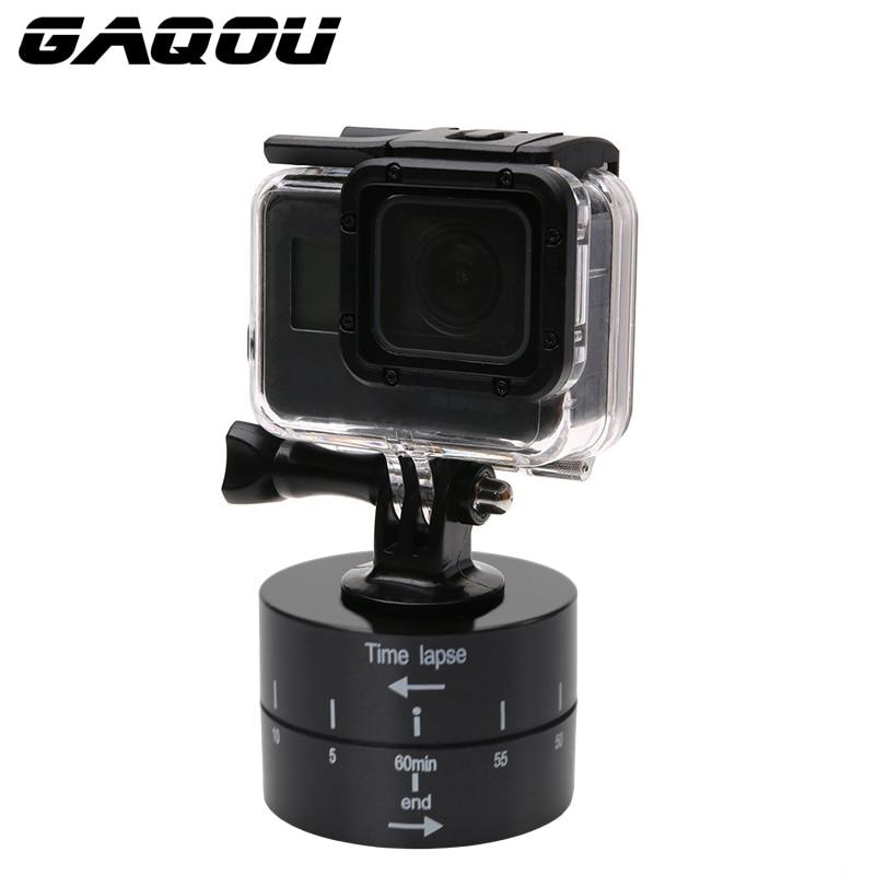 GAQOU 360 Degrés Panoramique Rotation Caméra trépied tête Photographie Laps de temps pour iPhone Mobile Pour Aller Pro Hero6 5 4 3 3 + SJCAM
