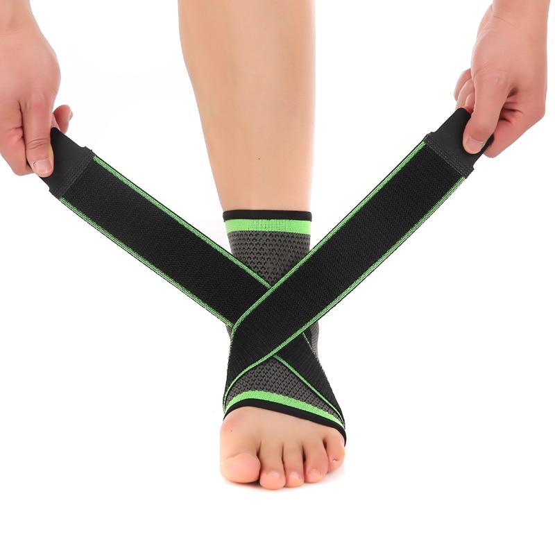 Prix pour 3D tissage sangle en nylon élastique support de cheville brace badminton basket-ball de football taekwondo fitness talon protecteur matériel de gymnastique