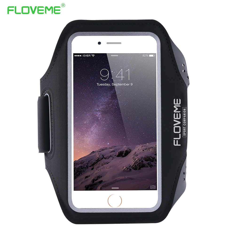 """FLOVEME 5.5"""" Waterproof Sport Arm Band Case For iPhone 6 6S Case For iPhone 6 6S Plus Screen Touch Sensible Running Sport Cover"""