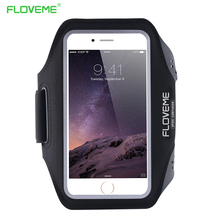 FLOVEME 5.5 inch Waterproof Sport Armband For iPhone 8 7 6 6S Plus Case Clear Screen View Touch Sensible Running Sport Pouch