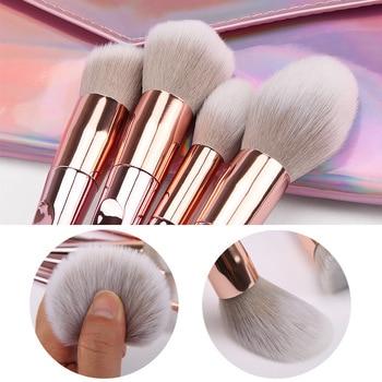 New Arrival Brushes 10pcs Pink Makeup Brushes Sets Make Up Brush Cosmetic Beauty Blush Powder Foundation Concealer Brushes set 3