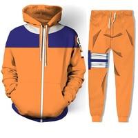 cosplay NARUTO Uzumaki Naruto /Hatake Kakashi coat 3D printing zipper sweater /pants coat jacket costumes top full set men/women