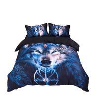 2018 Wild Wolf 3D Print Bedlinens Microfiber Polyester Bedding Set US Twin Full Queen King Size Duvet Cover Pillowcases