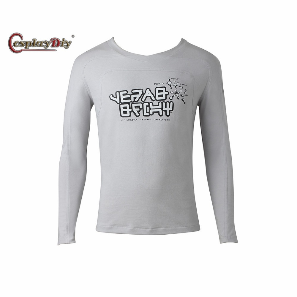 Cosplaydiy Guardians of the Galaxy 2 Star-Lord T-Shirt Cosplay Costume Peter Quill Long Sleeves Shirt For Halloween