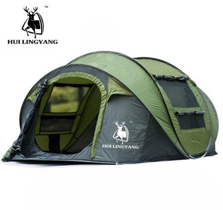 2017 nouveau en vente EA 3-4 personne entièrement automatique pop up coupe-vent imperméable randonnée plage pêche en plein air camping tente