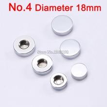 цены DHL Free Shipping ! 1000PCS/lot 18mm solid copper advertisement mirror nails acrylic flat nails screws caps decoration