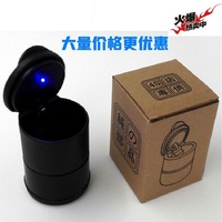 Yoyuede 1pc LED Portable Car Truck Auto Office Cigarette Ashtray Holder Cup Black Quality First DROP