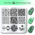 BORN PRETTY 1Pc Nail Stamping Plate 6*6cm Square Template Baroque Floral Design Image Plate BP-X01