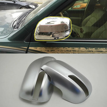 Car Accessories Exterior Decoration ABS Rearview Side Mirror Cover Trims 2pcs For Toyota Land Cruiser 2016 Car Styling car accessories interior decoration abs head lamp adjustment buttons cover trims for toyota land cruiser 2016 car styling