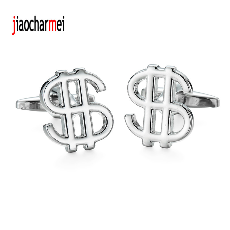 High quality personalized design new dollar sign Cufflinks suit fashion style financial symbol cufflinks, French shirt accessori