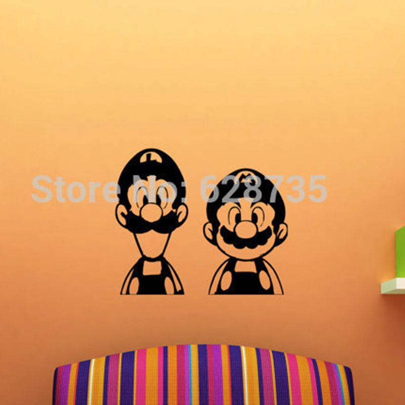 Super Mario And Luigi Vinyl Wall Decals Mural For Children Room Decor Super  Mario Wall Sticker For Home Decoration  In Wall Stickers From Home U0026 Garden  On ...