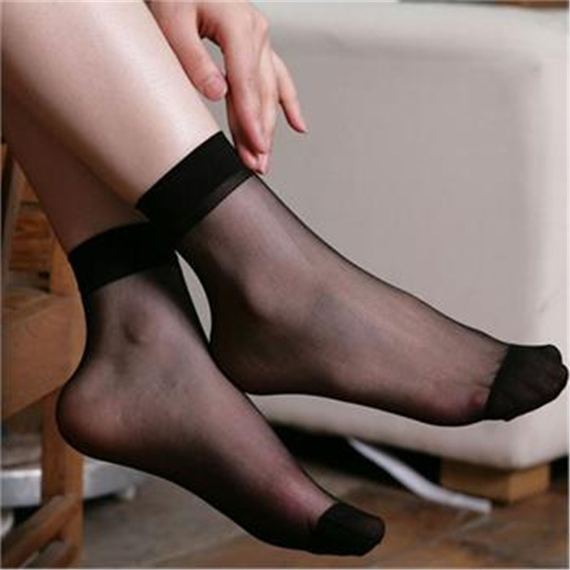 Women's Socks & Hosiery Symbol Of The Brand Hottest 10pairs Ladies Thin Socks Casual Elastic Short Ankle Sheer Silk Short Sock Accessories