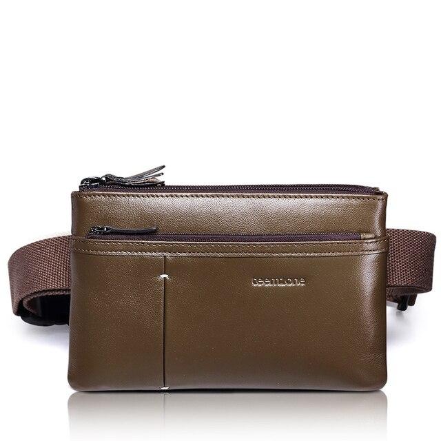 Men's Genuine Real Leather Fanny Waist Hip Bum Belt Backpack Clutch Bag Satchel Cross Body S4002