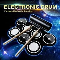 USB MIDI port Tragbare elektronische drum set multi töne einfach zu bedienen
