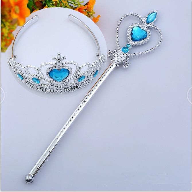 2019 New Crystal Tiara Crown Princess Crown + Magic Wand Girls Hair Accessories Party DIY Decoration