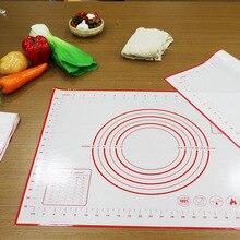 Утолщенное антипригарное силиконовые коврик для выпечки многоразовая выпечка, коврик для накидывания теста, коврик для разминания теста, кухонный инструмент для выпечки