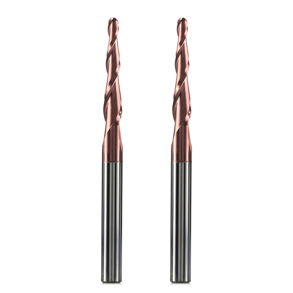 Ø 3mm R1.5 HRC45 Carbide Ball Nose End Mills CNC milling cutter finishing steel