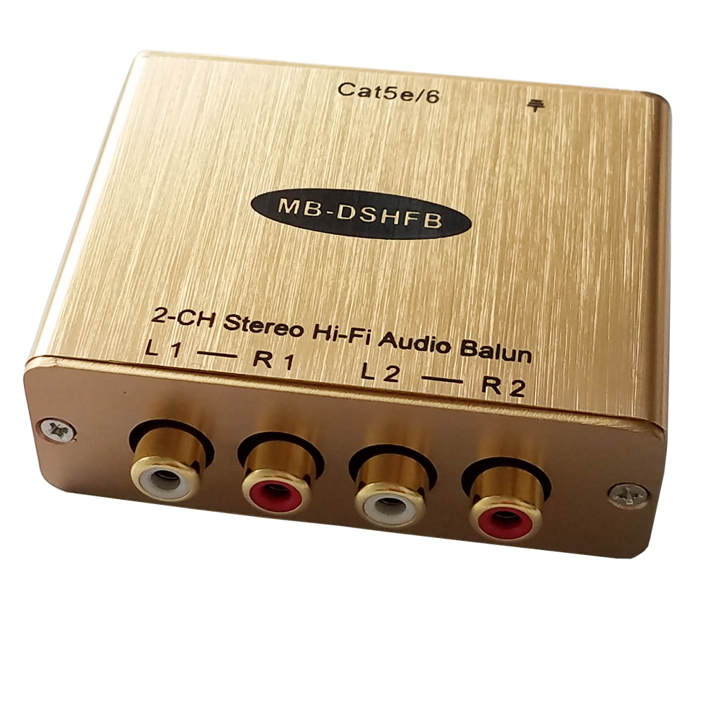 dual stereo hi fi audio over cat5 6 cable stereo audio to. Black Bedroom Furniture Sets. Home Design Ideas