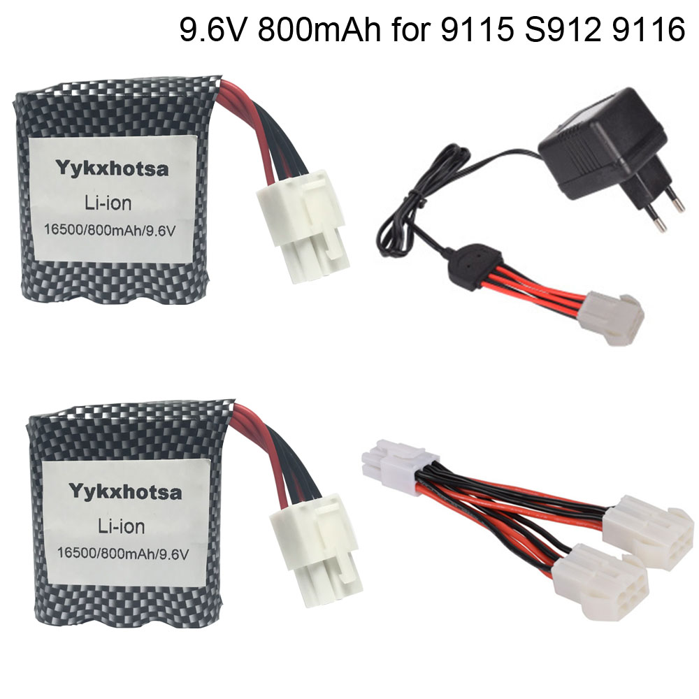 9.6V 800mAh li-ion <font><b>Battery</b></font> for <font><b>9115</b></font> S912 9116 high Speed <font><b>RC</b></font> Car <font><b>Battery</b></font> 9.6V <font><b>Battery</b></font> with Charger set high quality toys <font><b>battery</b></font> image