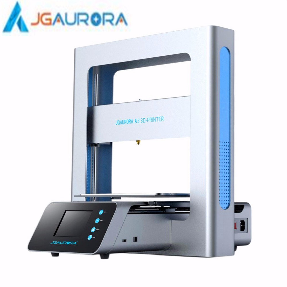 JGAURORA 3D Printer Full Metal Frame High Precision 205*205*205mm printing size LCD Touch Screen Display US UK EU AU Plug база vivienne sabo vivienne sabo vi054lwseq59