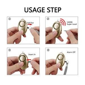 Image 3 - Draagbare Zelfverdediging Alarm 130DB Emergency Bescherming Personal Security Alarm Sleutelhanger Met Led Licht Voor Vrouw Kinderen Ouderen