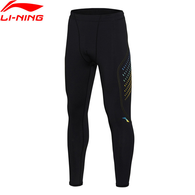 e26d21324b33c Li-Ning Men Sports Tights Training Pants 73% Polyester 27% Spandex Tight  Fit LiNing Sports Layer AULM095 MKY340