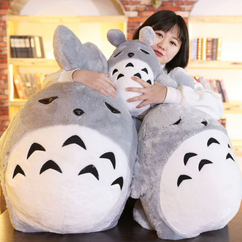 Fancytrader Pop Japan Anime Totoro Plush Toy Giant 110cm Cute Cartoon Stuffed Totoro Doll Kids Pillow Baby Present
