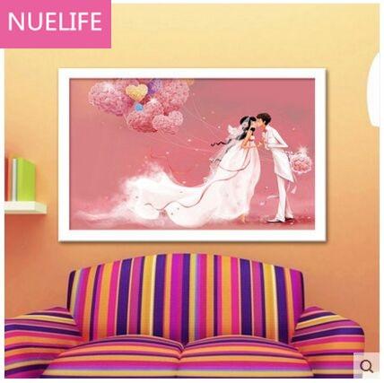 New 5D diamond painting living room bedroom couple romantic groom ...