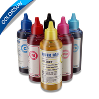 Colorsun 6 Color Sublimation Ink For Epson L800 P50 1390 inkjet printers for cloth/plate/mug/glass/metal/flag/shoes/T shirt/cup