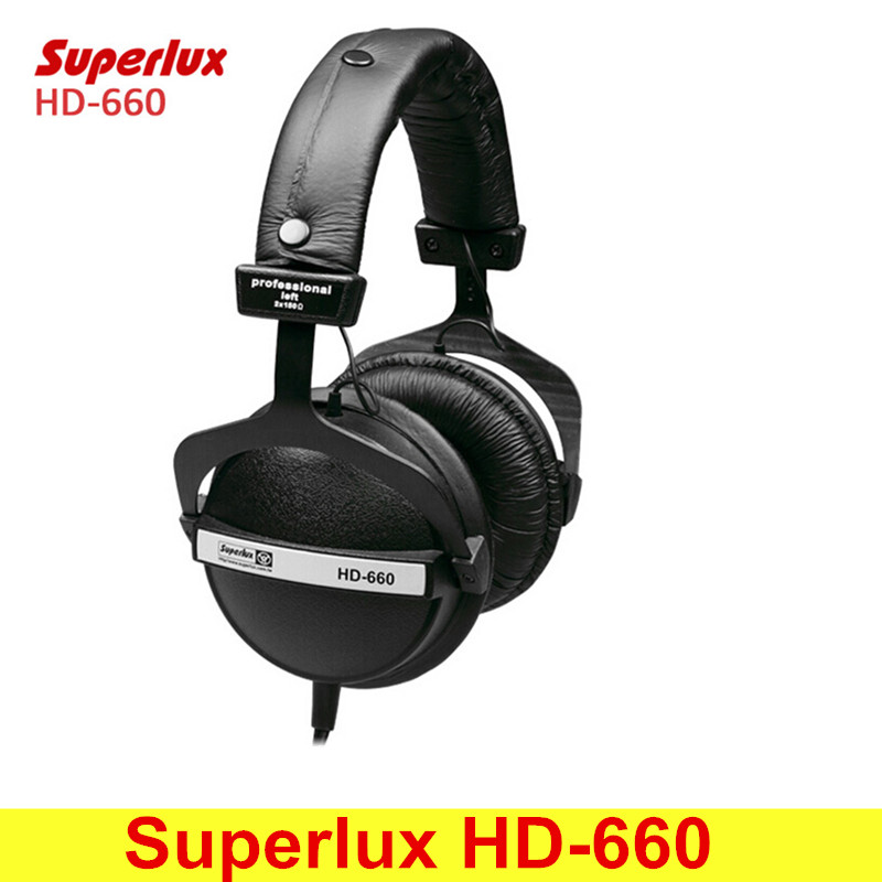 Superlux HD-660 Professional Monitoring Headphones Natural Well-balance Sound Profile Noise Attenuation Soft Earmuff Black superlux hd 562 omnibearing headphones noise canceling monitoring rotatable