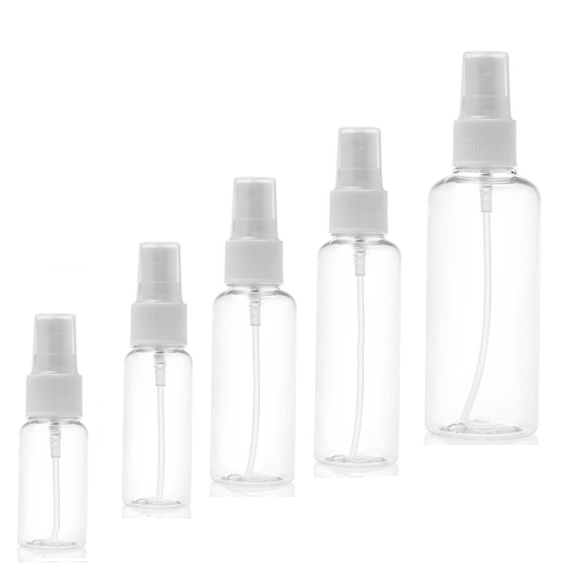 1000Pcs/lot Portable Small Transparent Plastic Empty Spray Bottle Refillable Bottles 10ml/30ml/50ml/60ml/100ml Travel Bottle