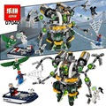 LEPIN 07040 Marvel Super Heroes Spiderman Doc Ock's Tentacle Trap Building Blocks Figures Avengers DC Toys
