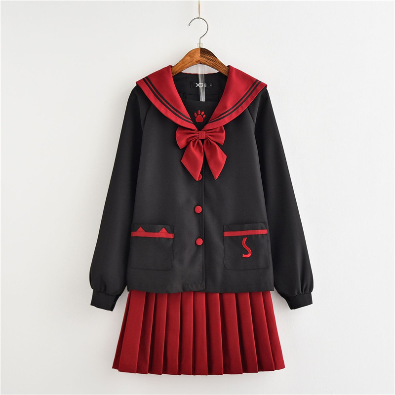 2018 New Arrival Japanese/korean School Uniforms Cosplay Costume Cute Girl Sailor Suit Jk Student Suits Uniform Top+skirt Sets