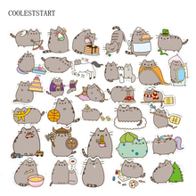 Pvc Stickers Pusheen Cat 100 Pcs