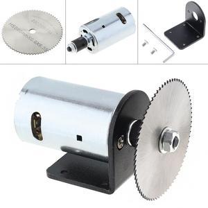 Image 1 - 24 فولت 555 موتور الجدول المنشار عدة مع الكرة تحمل تصاعد قوس و 60 مللي متر شفرة المنشار لقطع/تلميع