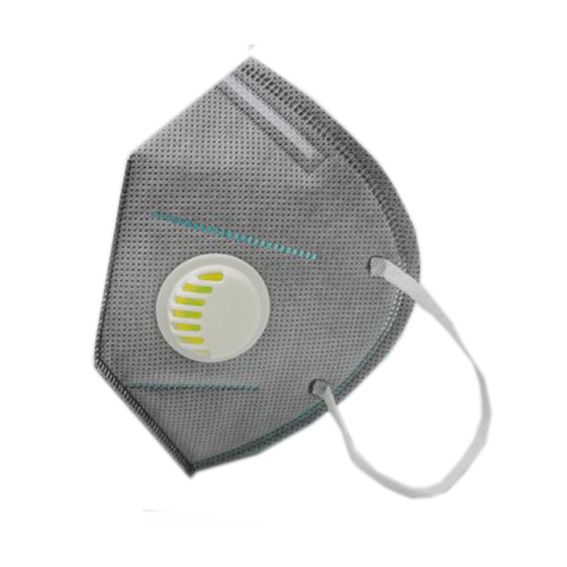 5PCS KN95 vertical folding nonwoven valved dust Activated carbon mask PM2.5 disposable respirator mouth with valve