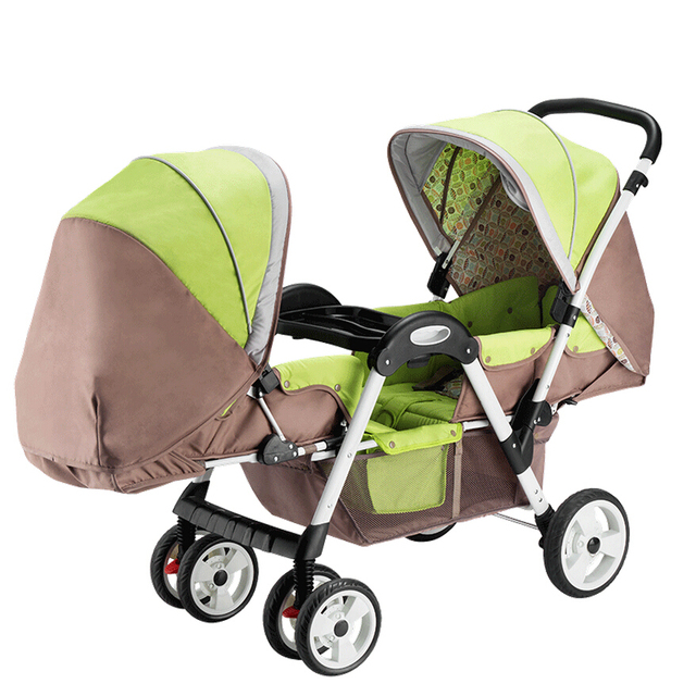 Luxury Twins Baby Stroller,New Double Stroller Prams and Pushchairs for Newborns,Baby Cart Carriage Portable Strollers for Twins