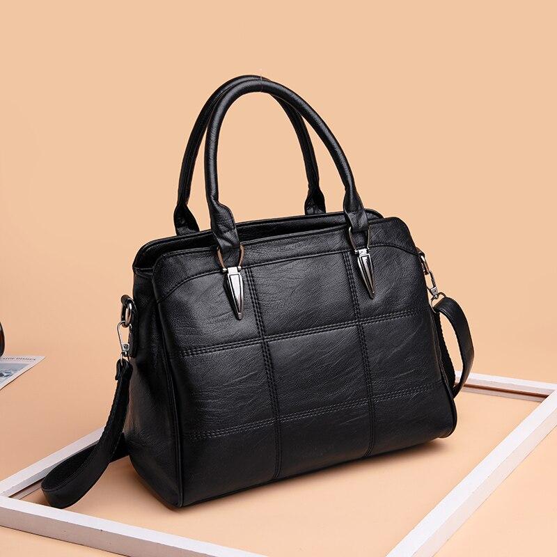 Black Leather Tote Handbag Women Shoulder Bag Female Designer Handbags Sale Bolsas De Couro Feminina