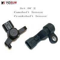 Set of 2 Cam Camshaft Crank Crankshaft Position Sensor For Honda Civic 2001 2005 L4 1.7L 37840 PLC 006 37500 PLC 015