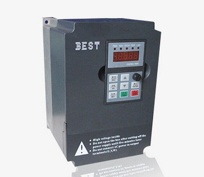 BEST 4kw 5HP 1000HZ VFD Inverter Frequency converter 3phase 380v input 3phase 0-380v output  9.5A for Engraving spindle motor