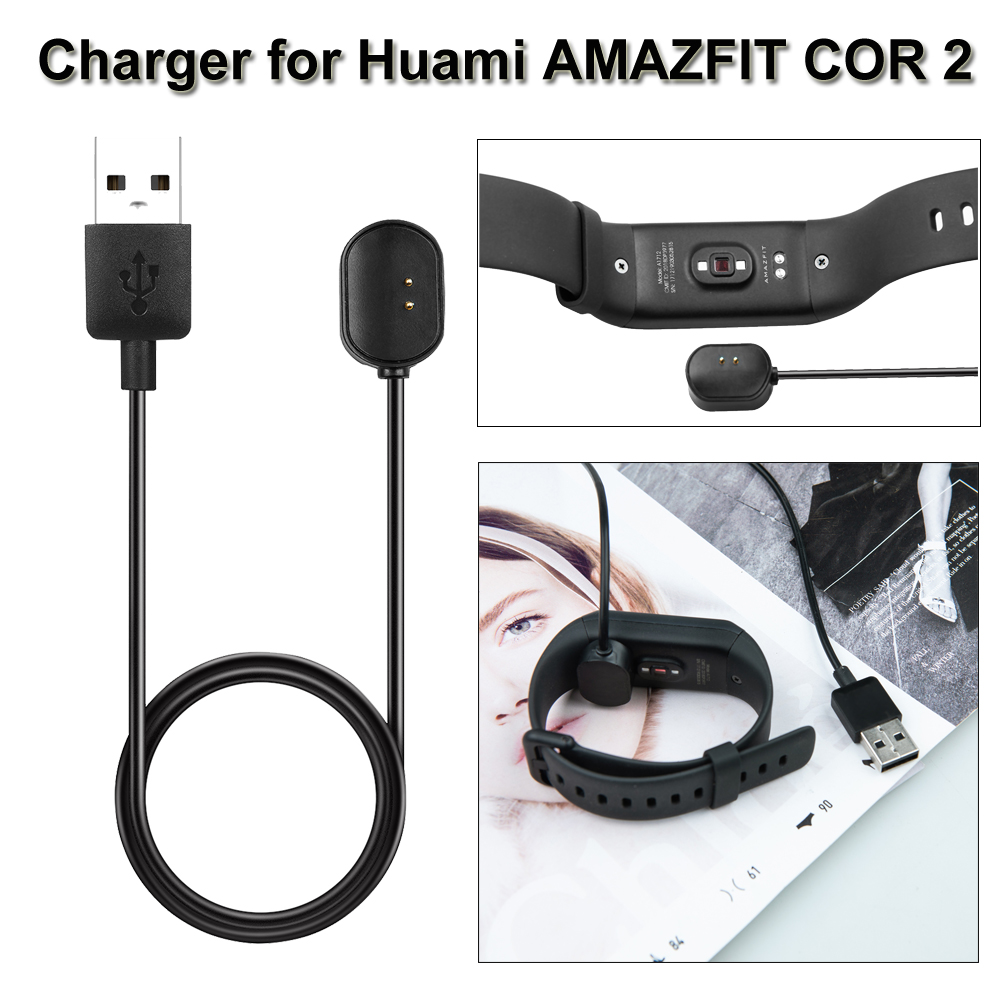 New Coming 1M Smart Watch USB Charging Dock Cradle Charger Cable For <font><b>Xiaomi</b></font> <font><b>Huami</b></font> <font><b>Amazfit</b></font> <font><b>Band</b></font> <font><b>2</b></font> <font><b>COR</b></font> <font><b>2</b></font> Watch charger Sport Watch image