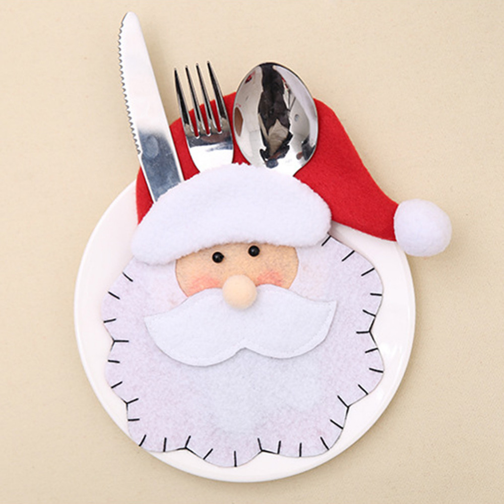 2pcs Set Dinnerware Holder Santa Claus Bag New Design & Santa Claus Dinnerware - Castrophotos