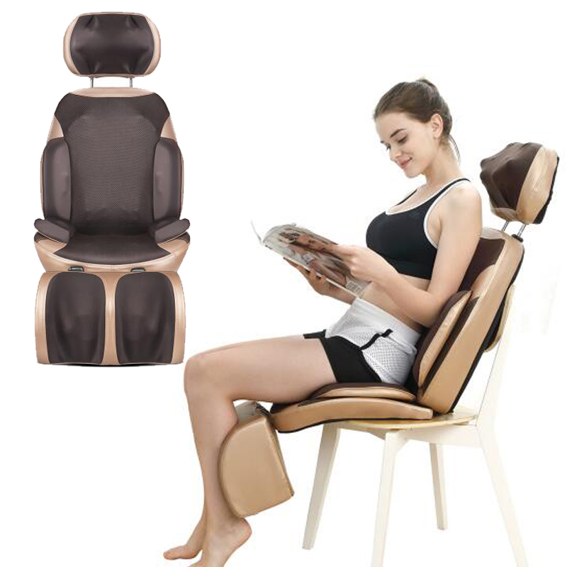 New Electric Back Massager Vibra Cervical Massage Device Multifunctional Pillow Neck Household Full-body Massage Chair new 5d electric heating back massager vibra cervical massage device multifunction pillow neck household full body massage chair