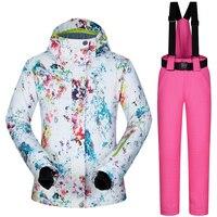 Women's Ski Jacket and Pant Winter Outdoor Jacket Snowboard Ski Coat Snow Wear Ski Suit Women Windproof Waterproof Breathable