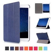 Soporte magnético pu Caso elegante de cuero Para Samsung Galaxy Tab S2 9.7 T815 SM-T810 T810 cubierta de la tableta con Auto de la Estela Del Sueño Up + stylus