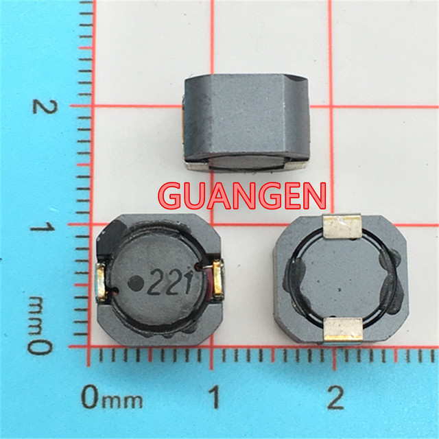 US $7 33 6% OFF|10PCS Original Power inductor B966BS 221M=P3 220UH 221  760MA 1060 10*10*6MM SMD Chip Shielding winding inductance High  frequency-in