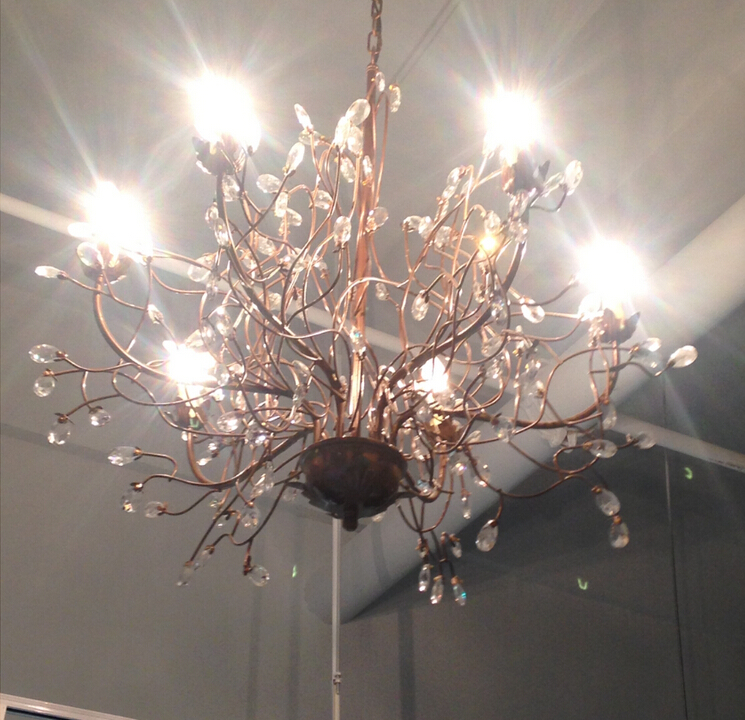 D74cm Nordico K9 Retro Branches Crystal Chandelier 6 Lights Bedroom Modern Chandeliers Led E14 Res In From