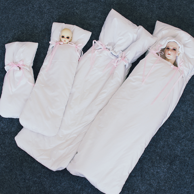 Free Shipping 1/3 BJD Accessories 1/4 1/6 BJD Doll Sleeping Bag Cotton Pad Outgoing Package Protection Package