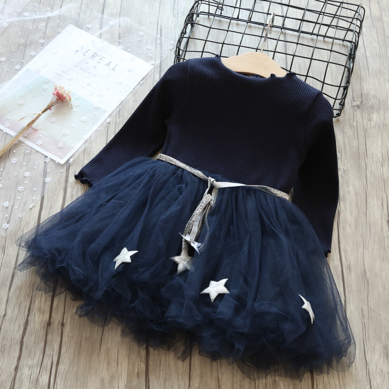 Princess Dress Brand Girls Clothes Tutu Junior Child Long Sleeves Clothing Kids Dresses For Girls Baby School Casual Wear 8T